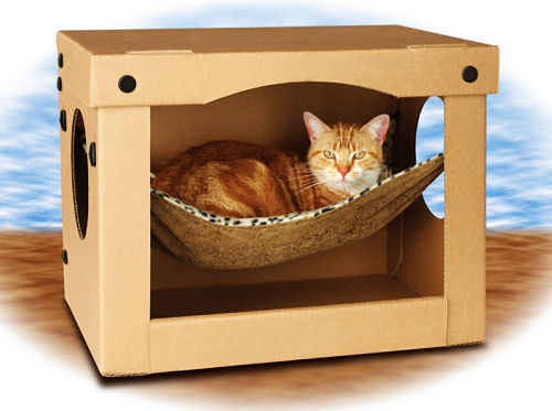 Домики для котов из коробки