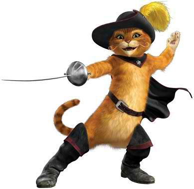 кот в сапогах со шпагой