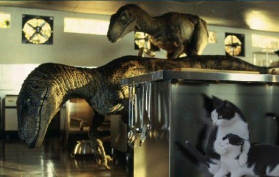 фотожаба два кота с динозаврами